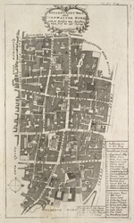 Bread Street ward and Cardwainter ward with its division into parishes taken from the last survey (1720)